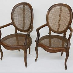 27-4898 Pair of Louis XV Teakwood Open Armchairs A_MG_4518