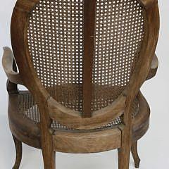 Pair of 19th Century Louis XV Teakwood Open Armchairs