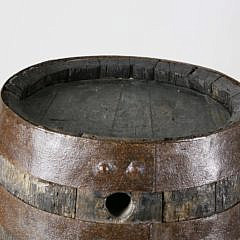 19th Century Oak and Iron Wine Cask