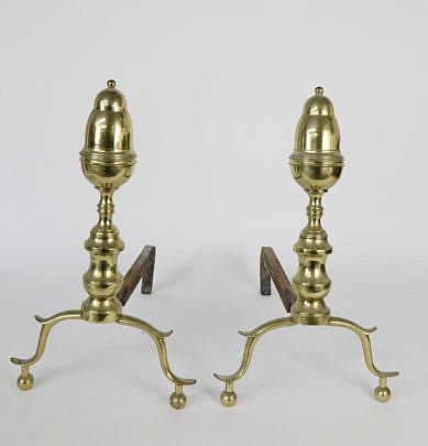 3-4904 Brass Andirons A_MG_5862