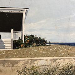 """John Austin Tempera on Board """"Beachfront"""""""