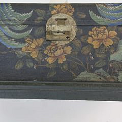 Chinese Decorated and Stitched Leather Trunk, 19th Century
