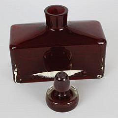 Vintage Ruby Glass Decanter