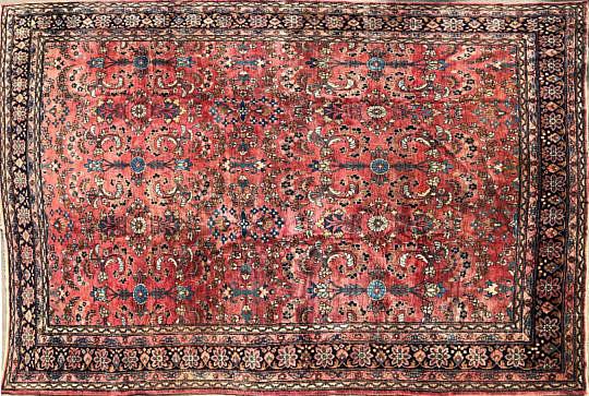 34-4273 Vintage Sarouk Carpet A IMG_4691