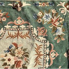 Wool Crewel Stitch Carpet