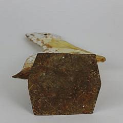 Cast Iron Figural Pelican Doorstop, 19th c.