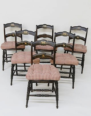 38-4905 6 American Cottage Decorated Dining Chairs A_MG_4779