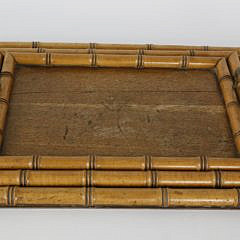 Set of Three Vintage Bamboo and Elm Nesting Trays