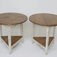 4-4880 Pair of Contemporary Pine Cricket Tables A_MG_4798