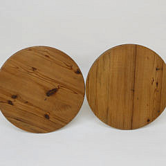 Pair of Contemporary Pine Cricket Tables