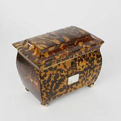 405-3771 Tortoiseshell Double Compartment Tea Caddy A_MG_5440
