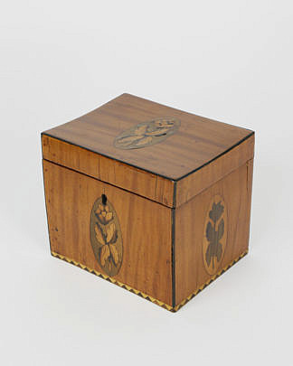 407-3771 Satinwood Inlaid Single Compartment Tea Caddy A_MG_5412