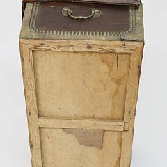 Chinese Export Leather and Brass Bound Camphorwood Trunk, 19th Century