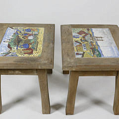 Two California Tile Tables