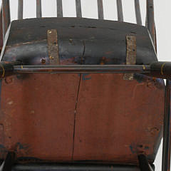 Faux Grain Decorated and Stenciled Boston Rocking Chair, 19th Century