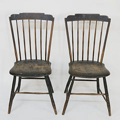 5-4800 Pair of American Stepdown Windsor Side chairs A_MG_4574
