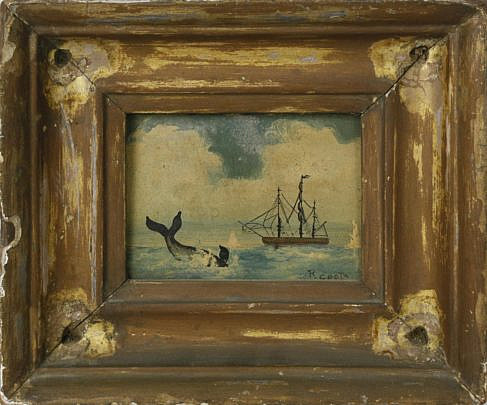 5-4913 Primitive Seascape of an Arctic Whaling Scene A_MG_5195