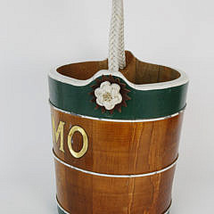 Carved and Painted Nautical Ship's Bucket