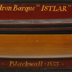 Vintage Half Hull of the Iron Barque Istlar