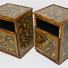 557-1865 Pair of English Bamboo Cabinet End Tables A_MG_4643
