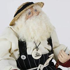 "Vintage Bethany Lowe Handmade Santa Claus Christmas Figure, ""The Scrimshander"""