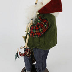 Santa Claus Goes Fishing Christmas Figure