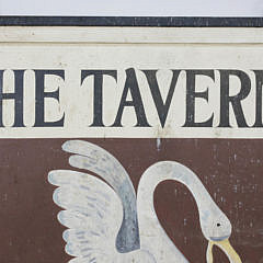 "Hand Painted Wood Sign ""The Tavern Seafood Restaurant"", 1960s"