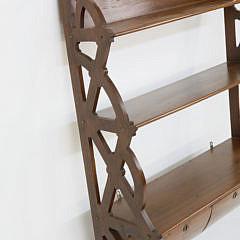 English Mahogany Three-Tier Hanging Shelf, 1st Quarter of the 19th Century