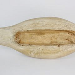 Hand Carved Wooden Nesting Swan Decoy