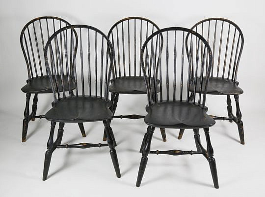 7-4908 Set of 5 RI Style Windsor Side Chairs A_MG_5105