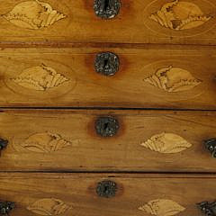 Georgian Satinwood Inlaid Chest of Drawers