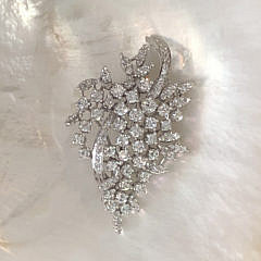 Ladies Vintage Diamond Spray Brooch