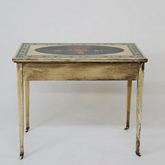 Antique American Decorated Two Drawer Dressing Table