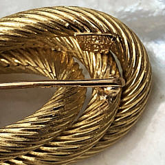 Tiffany & Co. 18k Yellow Gold Twisted Rope Brooch