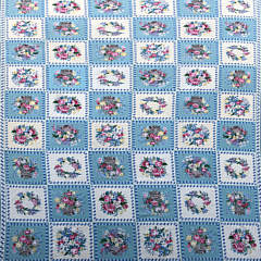 8-4914 Diamond & Baratta for Stark blue and white botanical needlepoint carpet A IMG_5139
