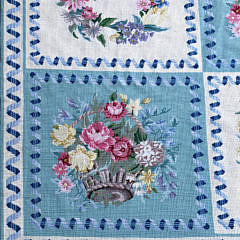 Diamond & Baratta for Stark Carpet Botanical Needlepoint Carpet