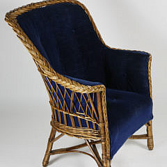 999 Upholstered Wicker Chair A_MG_5027