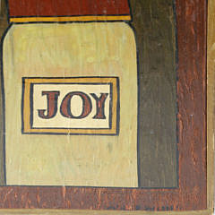 "Maggie Meredith Oil on Board ""Still Life with Nantucket Basket, Salt & Pepper Shaker, Hourglass, etc."""