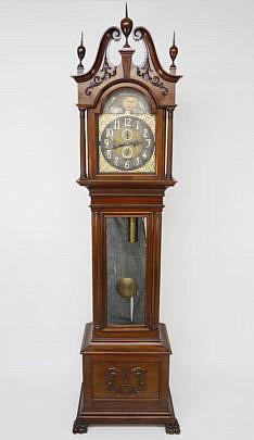 1-4921 German Mahogany Tall Case Clock A_MG_7060