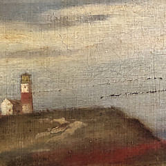 "William Ferdinand Macy Oil on Board ""Sankaty Head Nantucket"", ca. 1885"