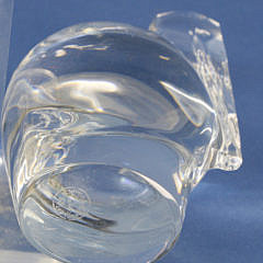 Signed Baccarat Clear Crystal Figural Pelican