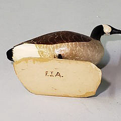 Miniature Hand Carved and Painted Goose Decoy