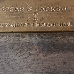Two Antique Spear Jackson, Josenay Wood & Co Sheffield Cast Steel Hand Saws