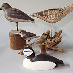 Group of 5 Hand Carved and Painted Shorebird Decoys
