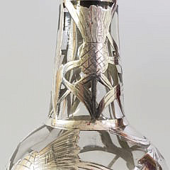 Sterling Silver Overlay Decanter