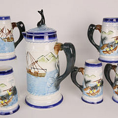 135-4621Nautical Decorated Drinkware Set A_MG_6583