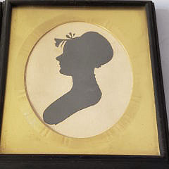Pair of 18th Century Silhouettes of Barbara and Gottfrid Seeler