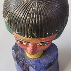 Folk Art Polychromed Carved Bust