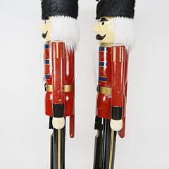 Pair of Monumental Nutcracker Figures, 6 Feet Tall