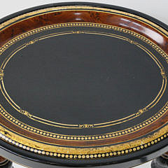 Contemporary Decorated Tray on Stand